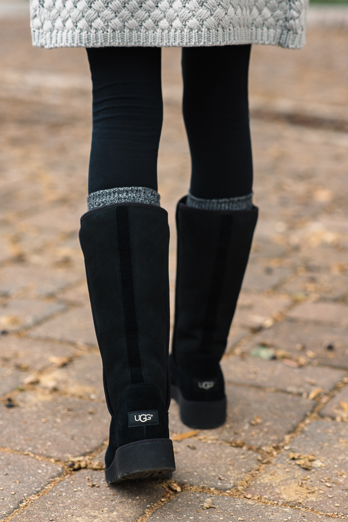 Chunky Knit Cardigan The New Slim Ugg Boot Alyson Haley