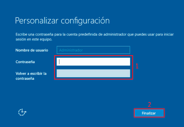 Microsoft Windows Server 2016 - Política de complejidad de contraseñas.