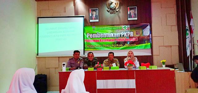 Serka Musa Abdullah Babinsa Koramil 09/Mlongo Hadiri Pembentukan PKPR Puskesmas Pakisaji