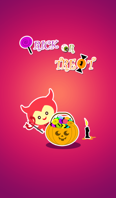 Trick or Treat at Halloween night