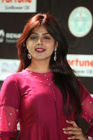 Monal Gajjar in Maroon Gown Stunning Cute Beauty at IIFA Utsavam Awards 2017 049.JPG