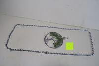 Anhänger und Kette: JOVIVI Edelstein Chakra-Anhänger Baum des Lebens Anhänger Pandent mit 56cm Kette,Lebensbaum Halskette für Damen Herren