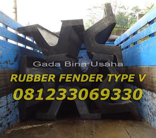 Rubber Fender Type V, Rubber Bumper Pelabuhan, Rubber Fender Indonesia