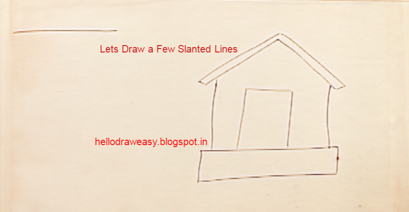 How To Draw A House For Kids Step By Step Drawings From Shapes