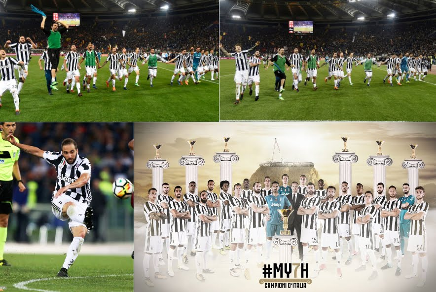 34 volte Juventus: 0-0 a Roma, #MY7H con un turno d'anticipo, 2° Napoli vincente sulla Sampdoria