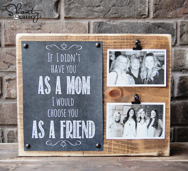 WOOD BLOCK PHOTO SISTER GIFT