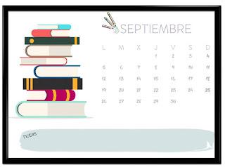 Calendario septiembre horizontal
