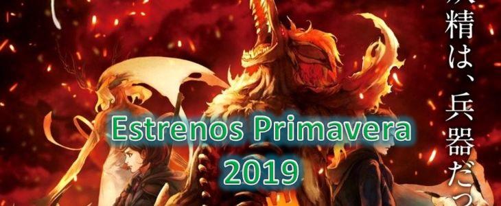 Cartelera Anime Primavera 2019