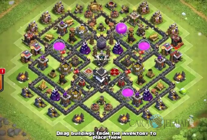 Base Trophy TH 9 COC Update Bomb Tower Terbaru 2017 Tipe 7