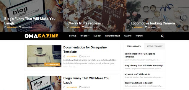 Omagazine Responsive Blogger Templates