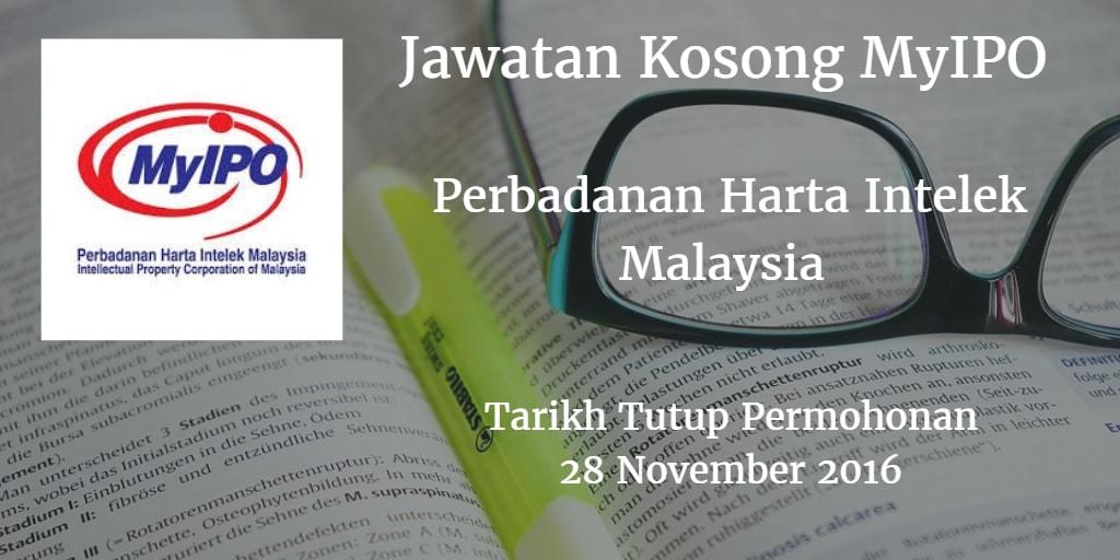 Jawatan Kosong MyIPO 28 November 2016