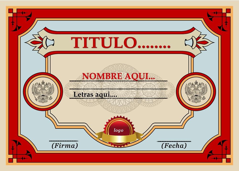 Plantilla psd para crear Diploma ó Certificado No10