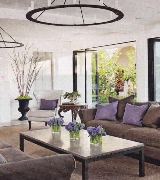 Black Grey And Purple Living Room: Verdigris Vie