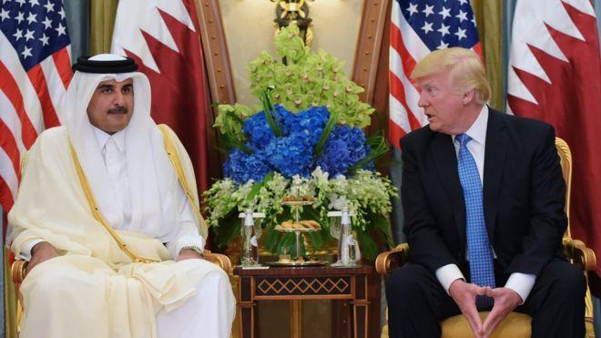 Qatar row: Trump urges Arab unity in call to Saudi Arabia's King Salman