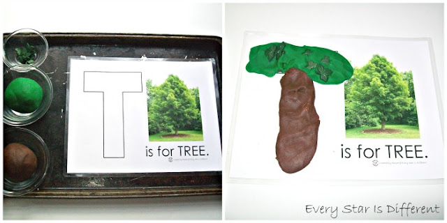 T is for tree.