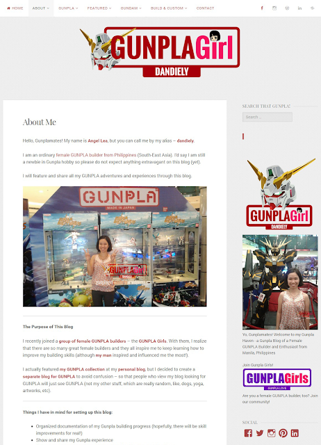 I dedicate this blog for my Gunpla hobby. Check it out at www.gunplagirldandiely.wordpress.com