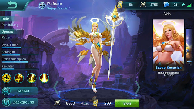 Hero Rafaela ( Sayap Kesucian ) High Damage Build/ Set up Gear