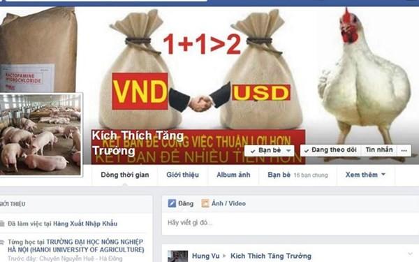 Rao bán thuốc kích thích tăng trưởng qua Facebook