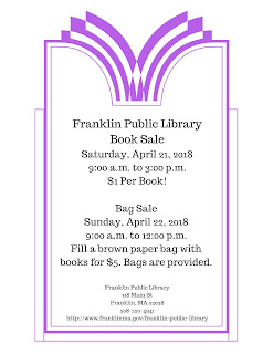 Library Book Sale weekend - Sat-Sun