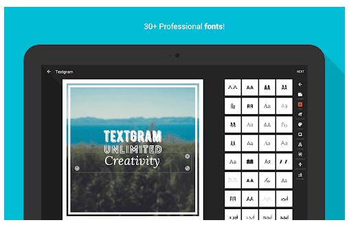 application android pour ecrire sur photo