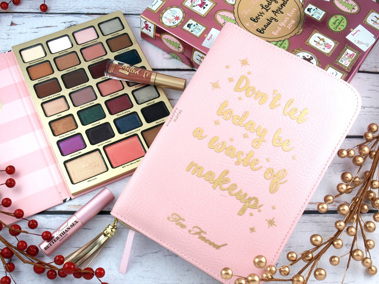Too Faced Holiday 2017   Boss Lady Beauty Agenda: Review and Swatches