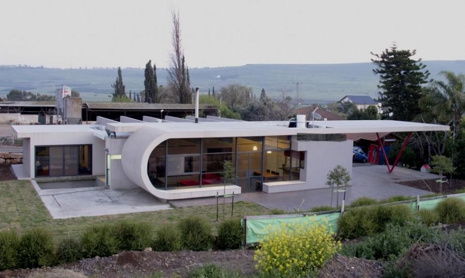 Uma casa de campo futurista em israel design innova for Casas futuristas