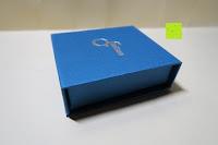 Box: OneChance Damen Ohrring Kollektion Blau Kristall Teardrop Ohrhänger