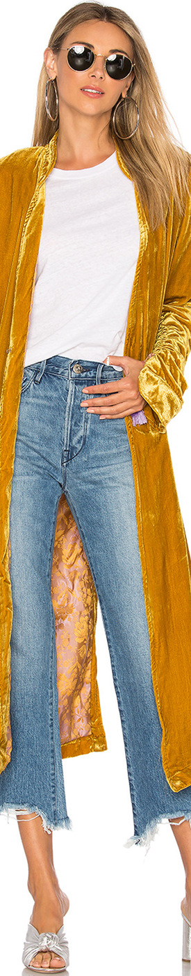 FREE-PEOPLE DHALIA VELVET DUSTER COAT