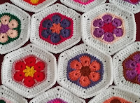 African flower hexagon