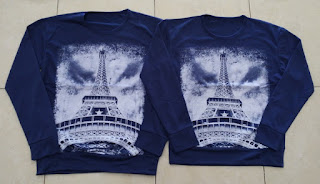 Jual Online Sweater Paris Sephia Navy Couple Murah Jakarta Bahan Babytery Terbaru