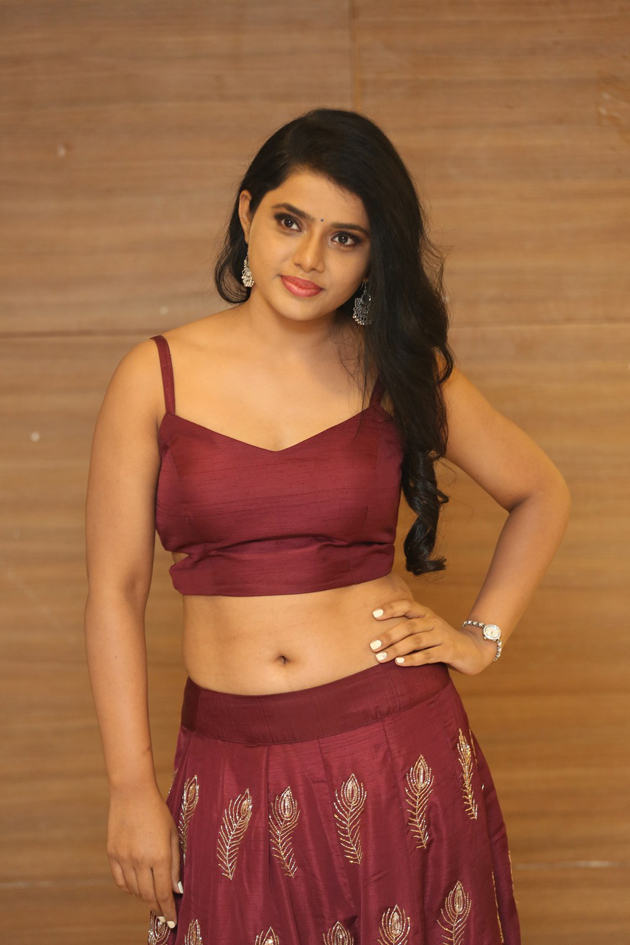 Sumaya Choco in lovely maroon Choli and Skirt spicy Pics