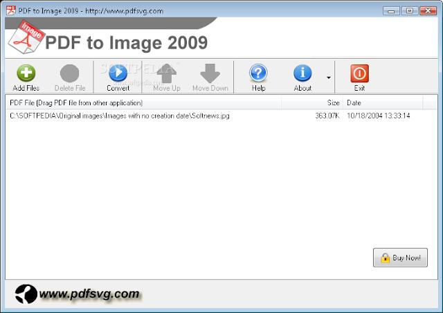 تحميل برنامج تحويل صيغة الصور الى pdf للكمبيوتر Image to PDF 2009 1.3.2.105
