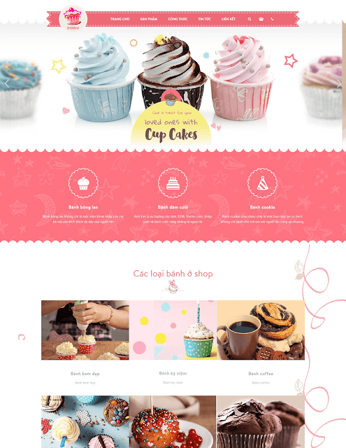 Template blogspot shop bán bánh kem