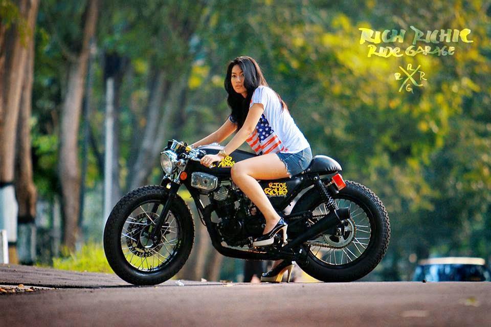 MOTOR TERONG Gambar Modifikasi Motor Keren Ala Custom