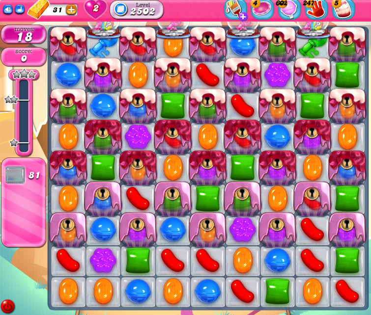 Candy Crush Saga level 2502
