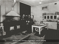 Kitchen inside No.2 Division, Boggo Road, Brisbane, undated.