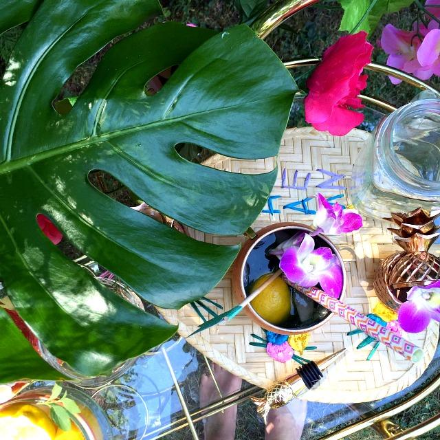 Summer Blogger Toronto Pool Party- Entertaining tips, flamingo floats, crudite platter, green juice popsicle