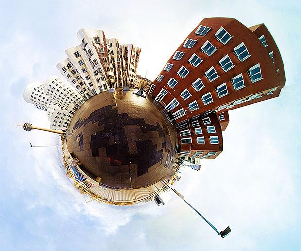 تحويل صورة بانورامية باستخدام الفوتوشوب الى صورة 360درجة