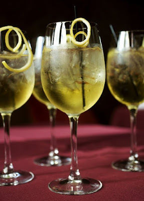 Upside-down Martini cocktail
