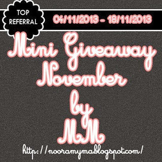 http://nooramyma.blogspot.com/2013/11/mini-giveaway-november-by-mm.html