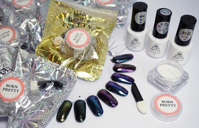 Nurbesten - Chameleon Mirror Nails Born Pretty Store, Nail Art, Design, Purple, Blue