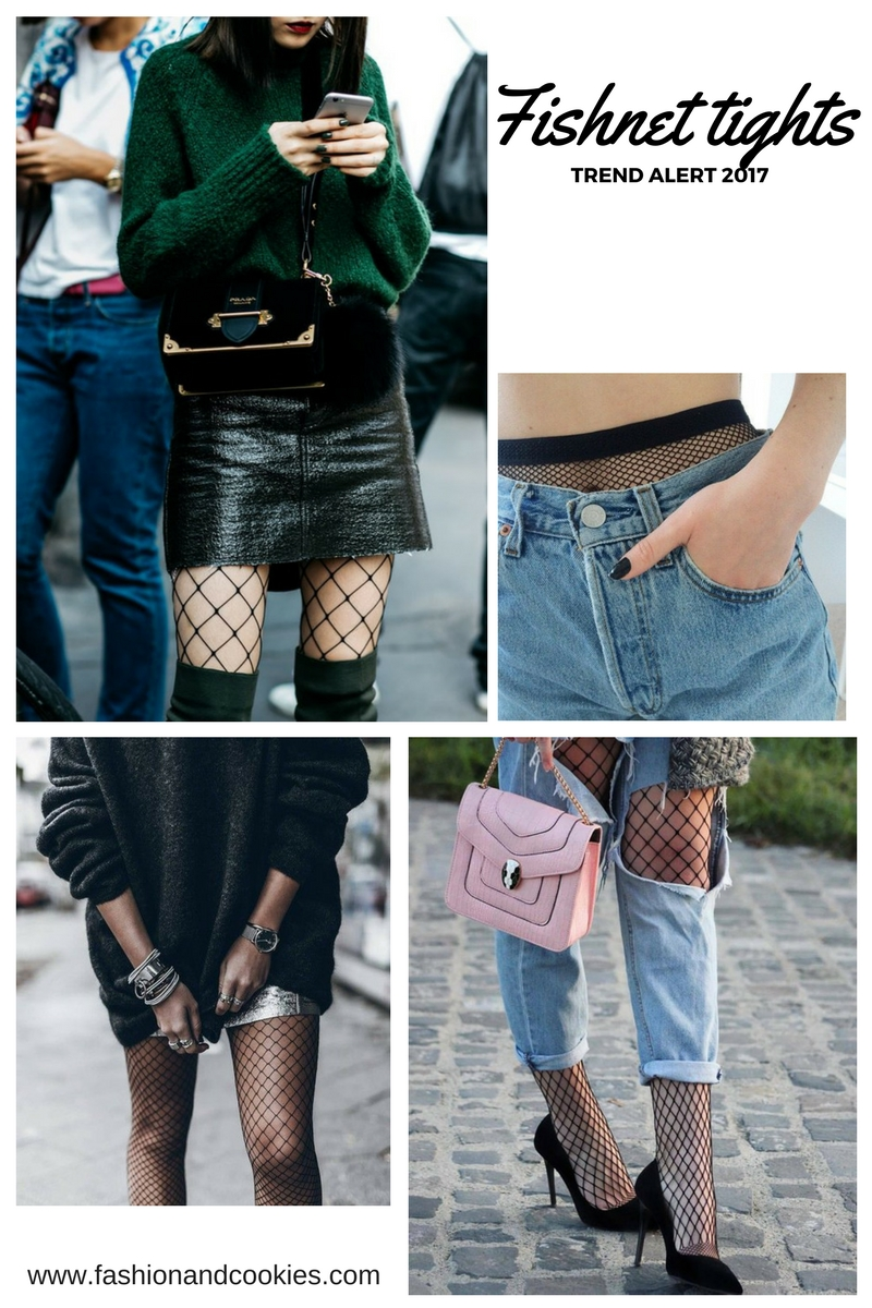 Trend alert: fishnet tights on Fashion and Cookies fashion blog, fashion blogger style