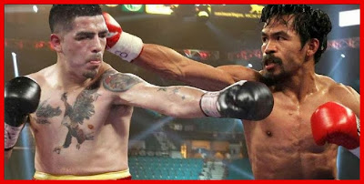Impressive fight of Pacman against Rios