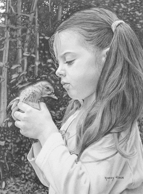 Randy Hann hyper-realistic pencil drawing