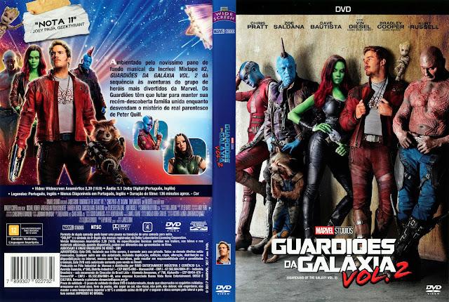 Capa DVD Guardiões da Galáxia Vol. 2