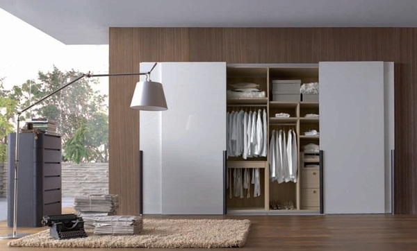 Modern Walk-in Wardrobes Designs with Many Storage Units