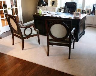 Kermans custom home office area rug