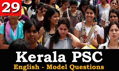 Kerala PSC - Model Questions English - 29