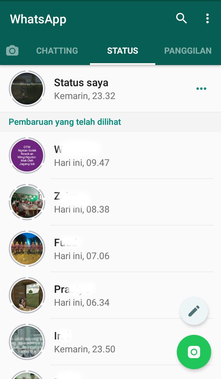 cara mendownload status wa orang lain