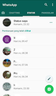 cara mendownload video di status whatsapp
